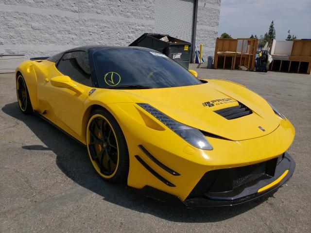 Ferrari 458 Spider salvage cars for sale: 2014 Ferrari 458 Spider