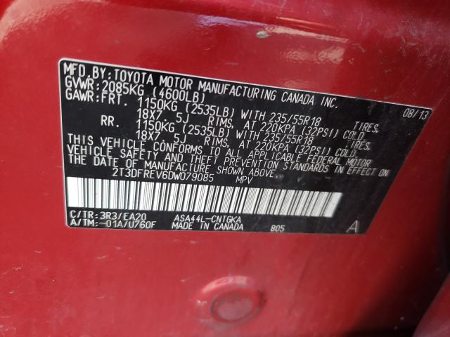 2013 TOYOTA RAV 4 2T3DFREV6DW079085