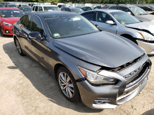 Salvage cars for sale from Copart Billerica, MA: 2015 Infiniti Q50 Base