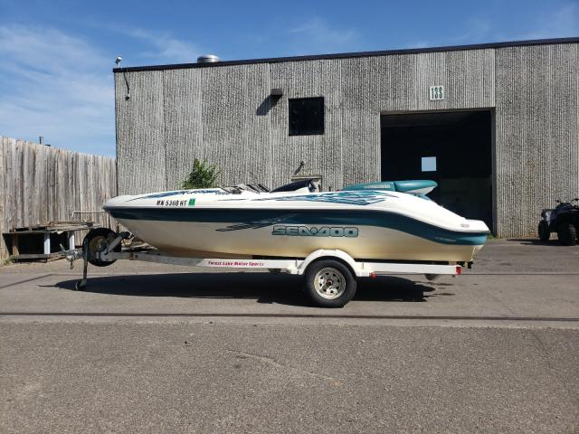 Salvage boats for sale at Ham Lake, MN auction: 2000 Seadoo Marine Trailer