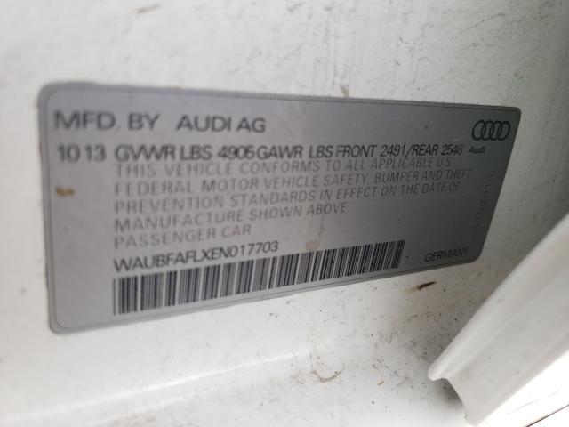 2014 AUDI A4 PREMIUM WAUBFAFLXEN017703