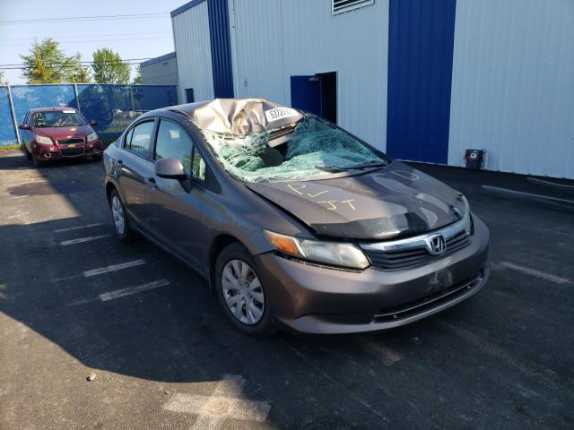 Salvage cars for sale from Copart Moncton, NB: 2012 Honda Civic LX