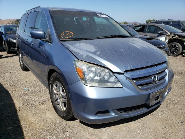 Salvage cars for sale from Copart San Martin, CA: 2006 Honda Odyssey EX