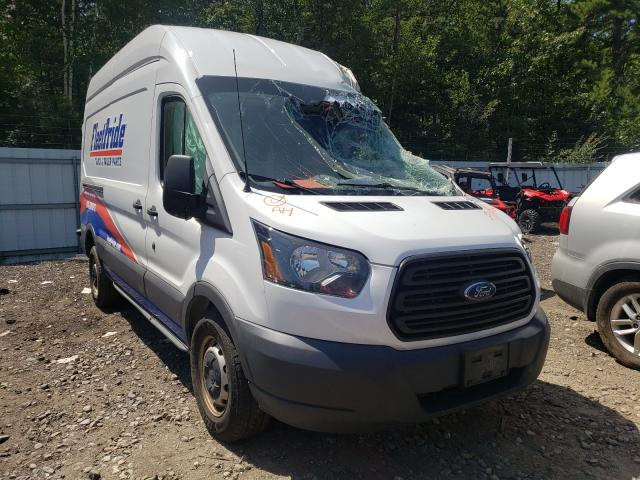 Salvage trucks for sale at Lyman, ME auction: 2016 Ford Transit T