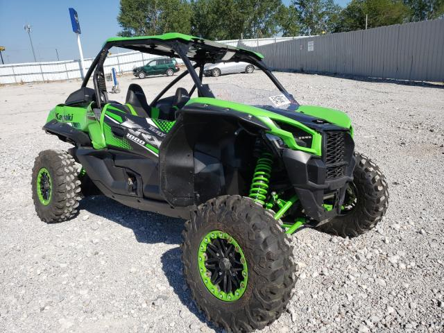 Salvage cars for sale from Copart Greenwood, NE: 2020 Kawasaki KRF 1000 A