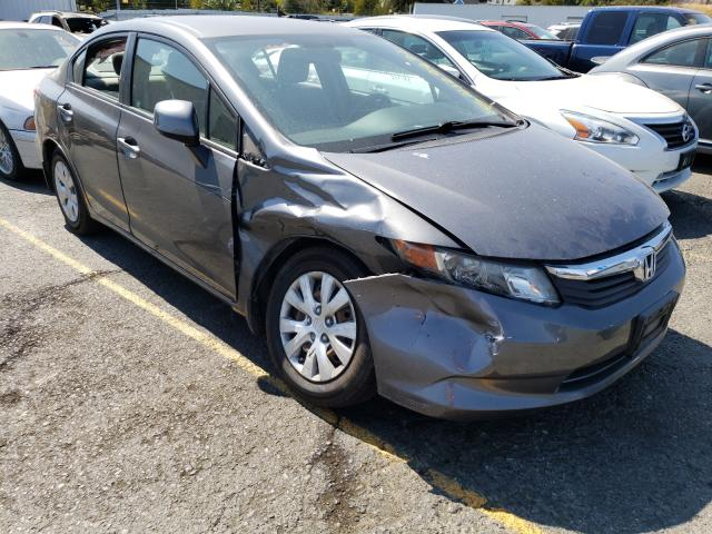 Salvage cars for sale from Copart Vallejo, CA: 2012 Honda Civic LX