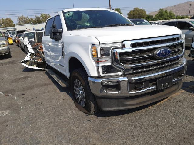 Salvage cars for sale from Copart Colton, CA: 2021 Ford F350 Super
