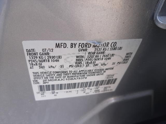 2013 FORD EDGE 2FMDK4JC1DBA75379