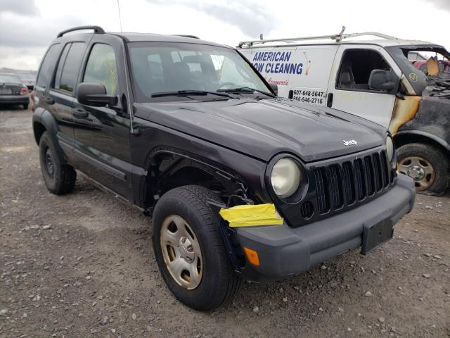 Salvage cars for sale from Copart Leroy, NY: 2007 Jeep Liberty SP