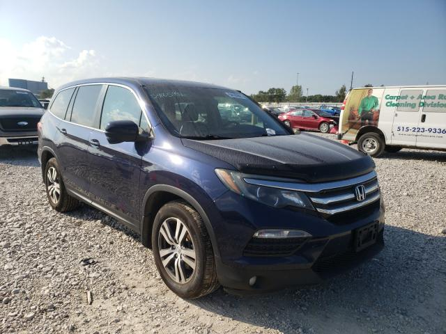 Honda Pilot EXL salvage cars for sale: 2016 Honda Pilot EXL