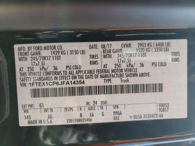 2018 FORD F150 SUPER 1FTEX1CP6JFA14354
