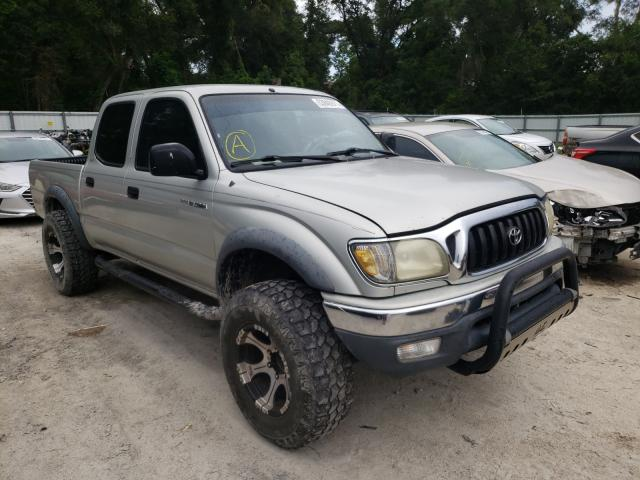 Salvage cars for sale from Copart Ocala, FL: 2002 Toyota Tacoma DOU