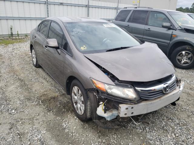Salvage cars for sale from Copart Spartanburg, SC: 2012 Honda Civic LX