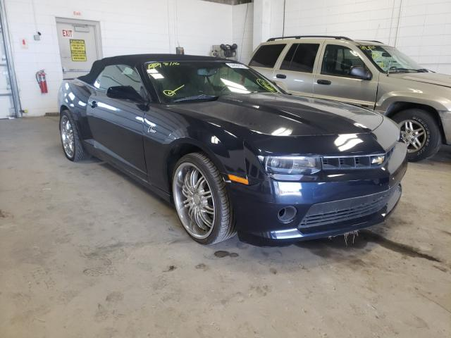 Salvage cars for sale from Copart Blaine, MN: 2015 Chevrolet Camaro LT