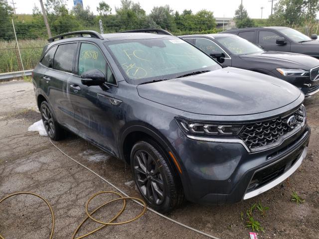 KIA salvage cars for sale: 2021 KIA Sorento SX