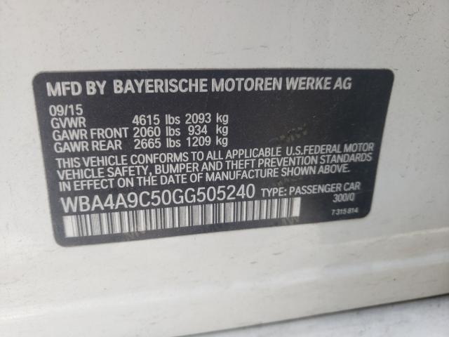 WBA4A9C50GG505240
