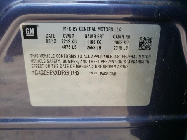 2013 BUICK LACROSSE 1G4GC5E3XDF260782