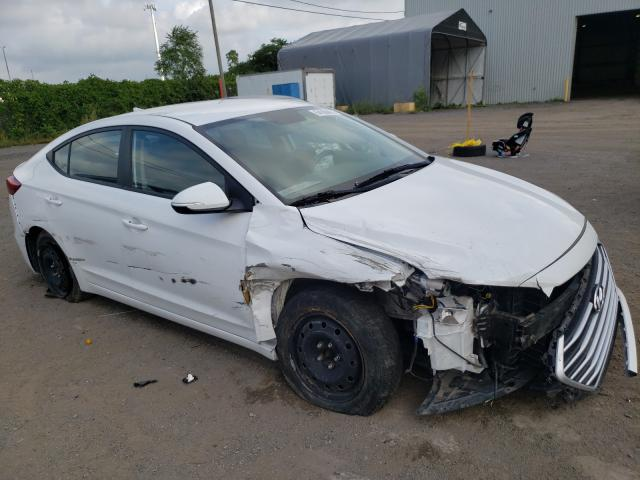Salvage cars for sale from Copart Montreal Est, QC: 2018 Hyundai Elantra SE
