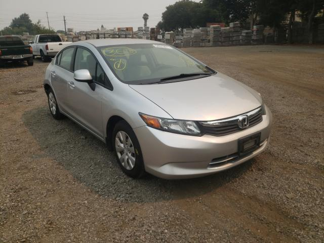 Salvage cars for sale from Copart San Martin, CA: 2012 Honda Civic LX