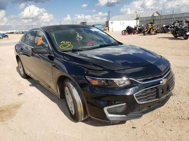 Salvage cars for sale from Copart Andrews, TX: 2016 Chevrolet Malibu LS