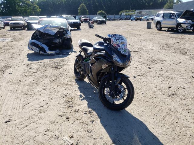 Salvage cars for sale from Copart Hampton, VA: 2016 Kawasaki EX650 E