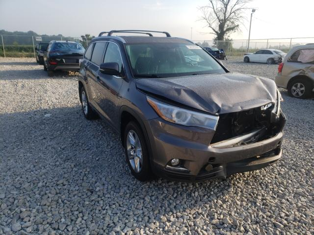 Salvage cars for sale from Copart Cicero, IN: 2015 Toyota Highlander