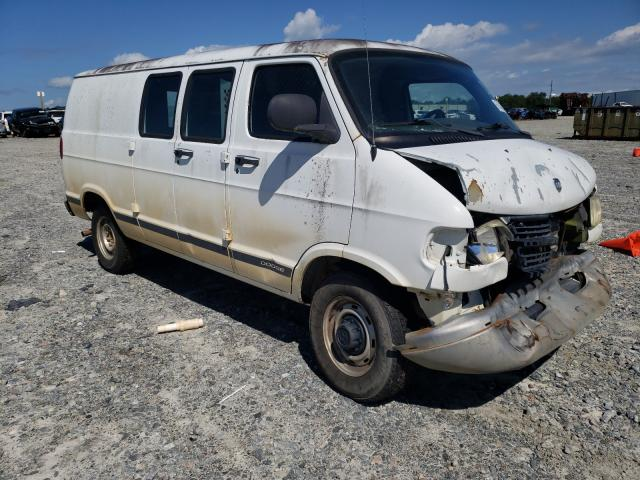 Salvage cars for sale from Copart Tifton, GA: 2001 Dodge RAM Van B2
