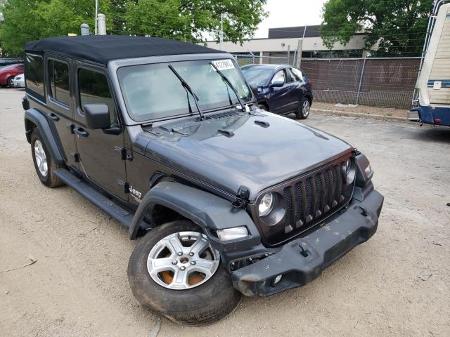Salvage cars for sale from Copart Wheeling, IL: 2019 Jeep Wrangler U