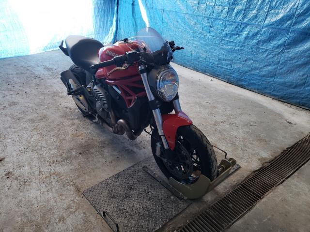Salvage motorcycles for sale at Northfield, OH auction: 2015 Ducati Monster 82