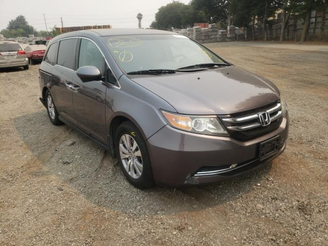 Salvage cars for sale from Copart San Martin, CA: 2015 Honda Odyssey EX