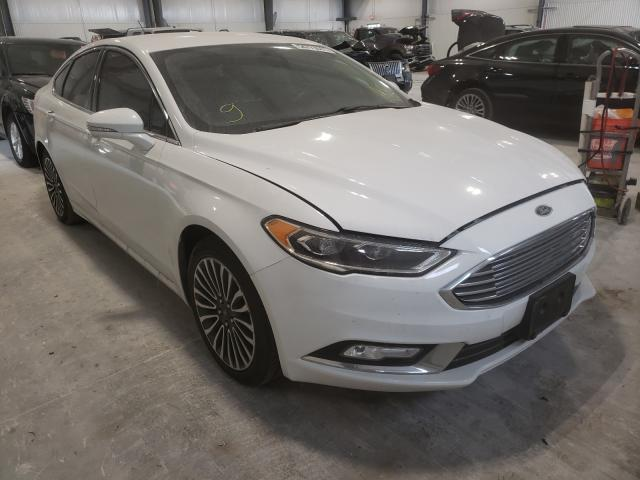 Salvage cars for sale at Greenwood, NE auction: 2017 Ford Fusion Titanium