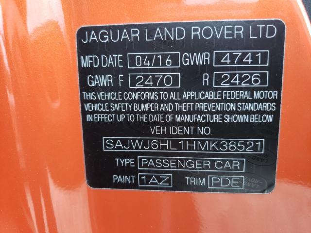 2017 JAGUAR F-TYPE R SAJWJ6HL1HMK38521