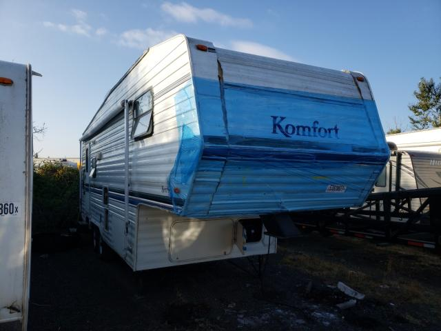 Salvage cars for sale from Copart Woodburn, OR: 2002 Komfort Travel Trailer