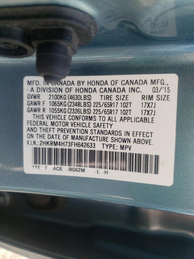 2015 HONDA CR-V EXL 2HKRM4H73FH642633