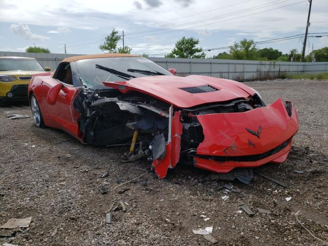 Salvage cars for sale from Copart Houston, TX: 2014 Chevrolet Corvette S