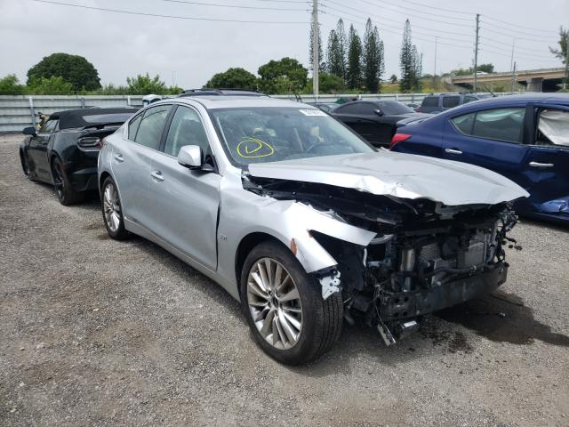 Salvage cars for sale from Copart Miami, FL: 2020 Infiniti Q50 Pure