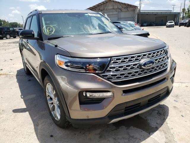 Salvage cars for sale from Copart Corpus Christi, TX: 2021 Ford Explorer L