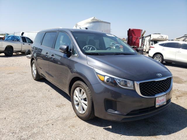 Salvage cars for sale at Tucson, AZ auction: 2016 KIA Sedona LX