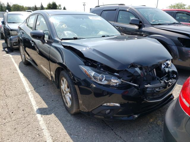 Salvage cars for sale from Copart Angola, NY: 2016 Mazda 3 Touring