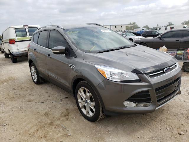 Salvage cars for sale from Copart Kansas City, KS: 2014 Ford Escape Titanium