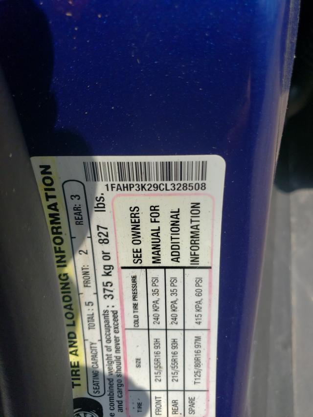 2012 FORD FOCUS SE 1FAHP3K29CL328508