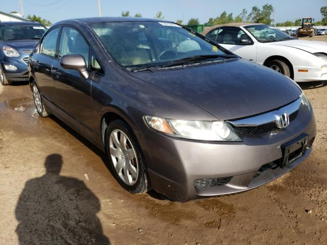Salvage cars for sale from Copart Pekin, IL: 2010 Honda Civic LX