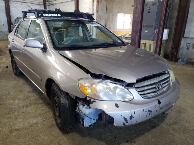 Salvage cars for sale from Copart Grantville, PA: 2003 Toyota Corolla CE