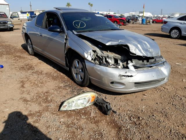 Salvage cars for sale from Copart Phoenix, AZ: 2006 Chevrolet Monte Carl