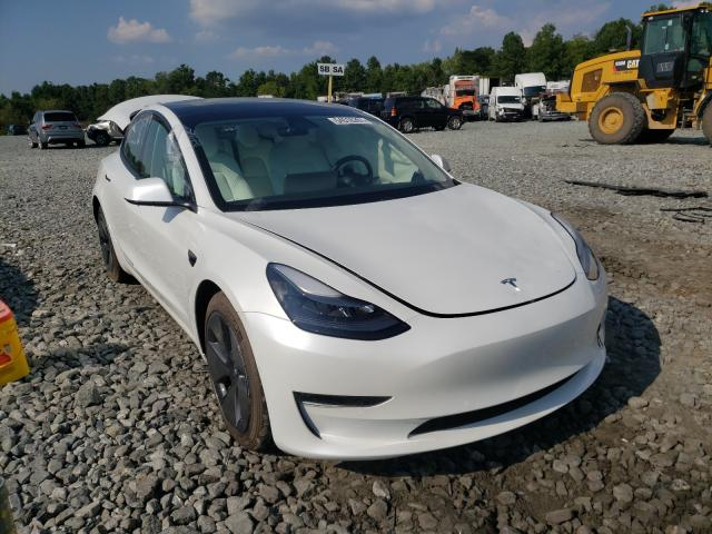 Salvage cars for sale from Copart Mebane, NC: 2021 Tesla Model 3