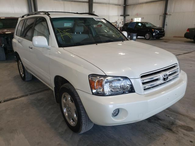 Salvage cars for sale at Greenwood, NE auction: 2006 Toyota Highlander
