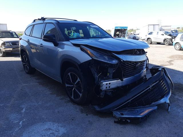 Toyota salvage cars for sale: 2021 Toyota Highlander