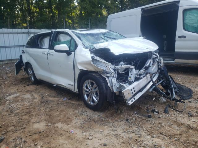 Salvage cars for sale from Copart Austell, GA: 2021 Toyota Sienna LIM