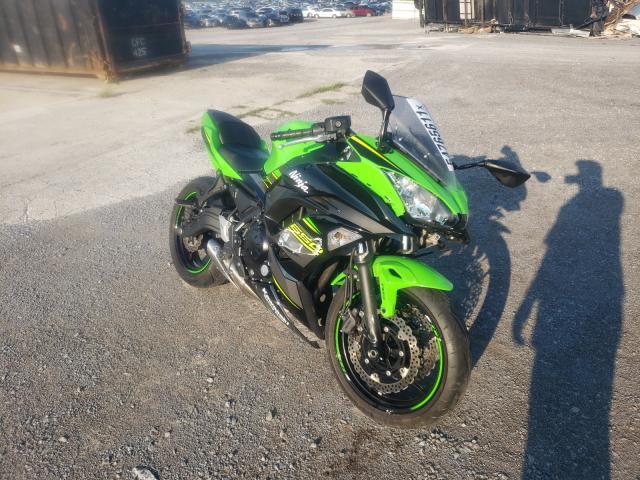 Salvage motorcycles for sale at Lebanon, TN auction: 2018 Kawasaki EX650 F