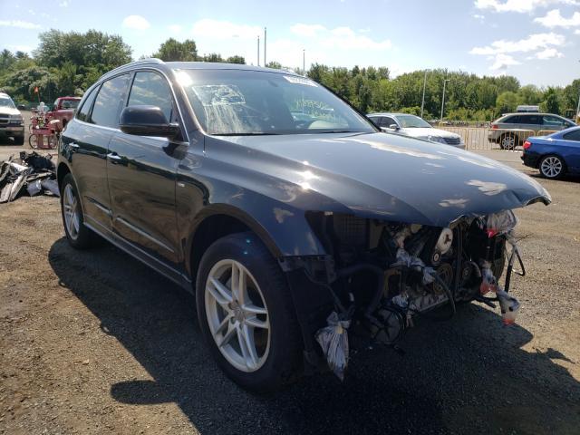 Salvage cars for sale at East Granby, CT auction: 2015 Audi Q5 Premium